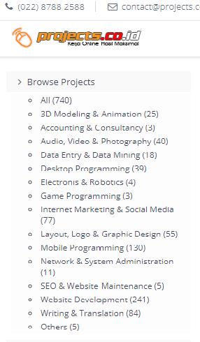Cara Menjadi Freelancer Di Project.co.id : Dapat Penghasilan Dari Nge Blog dan  Banyak Job Lainnya