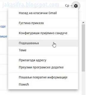 Podešavanje Gmail naloga