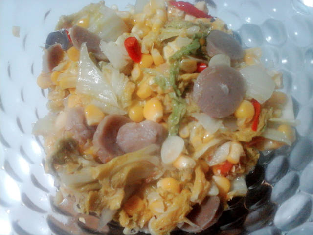 Resep tumis jagung sawi bakso ala rumah makan ciwidey