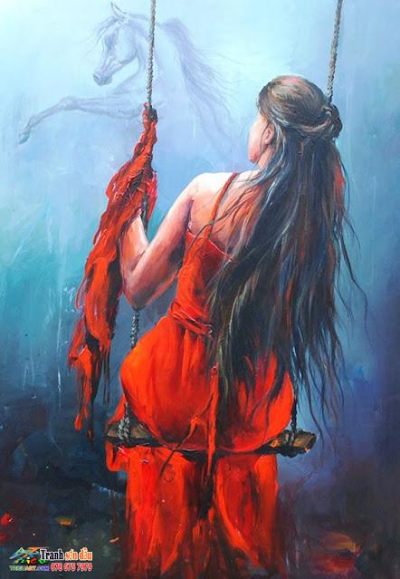 tranh sơn dầu nghệ thuật đẹp