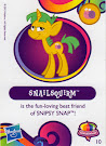 My Little Pony Wave 10 Snailsquirm Blind Bag Card