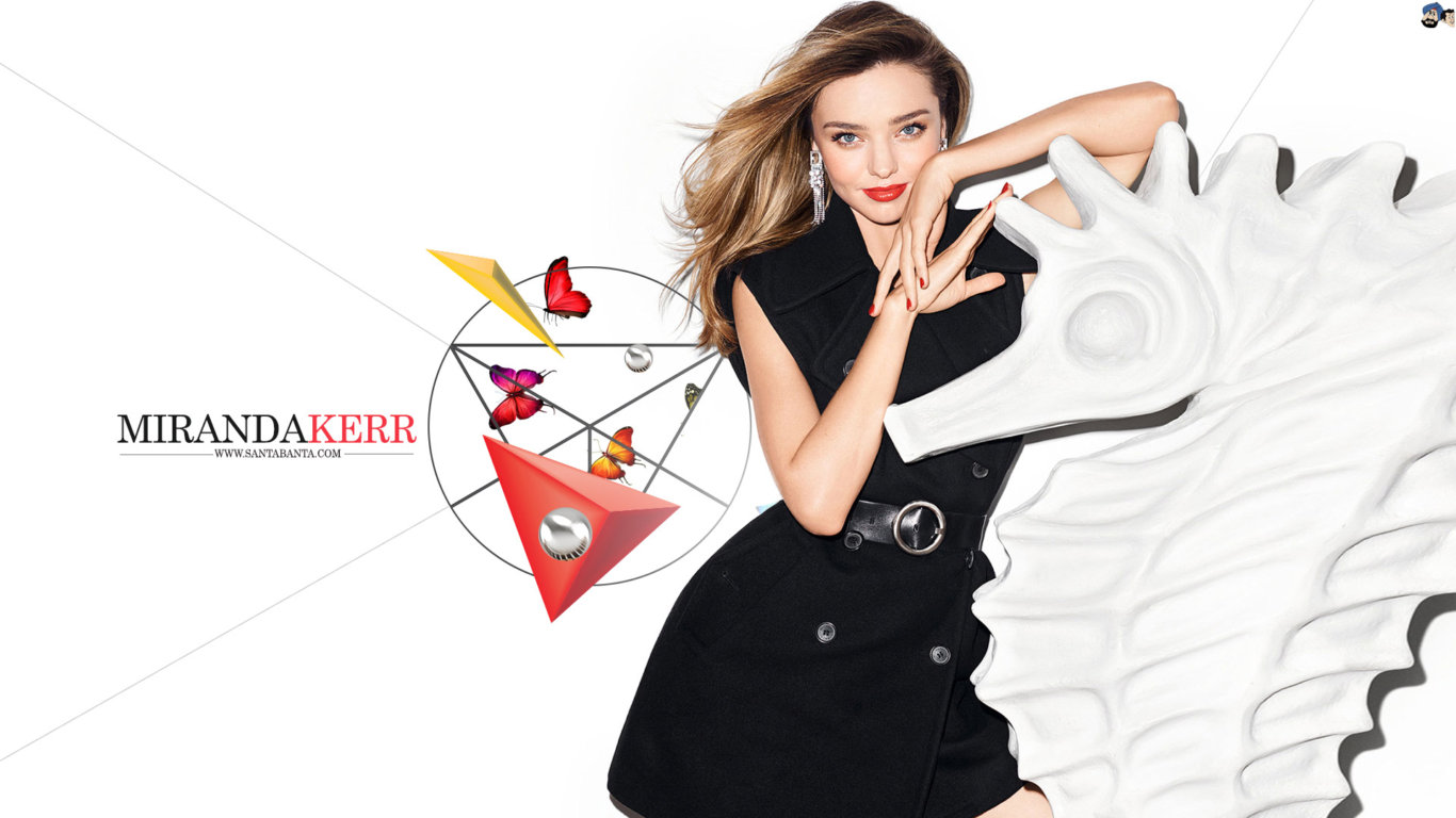 Miranda Kerr Black Outfit Hot Wallpaper