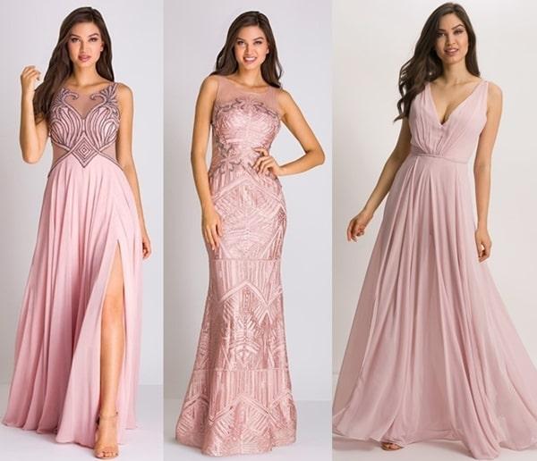 vestido longo rosa para madrinha de casamento