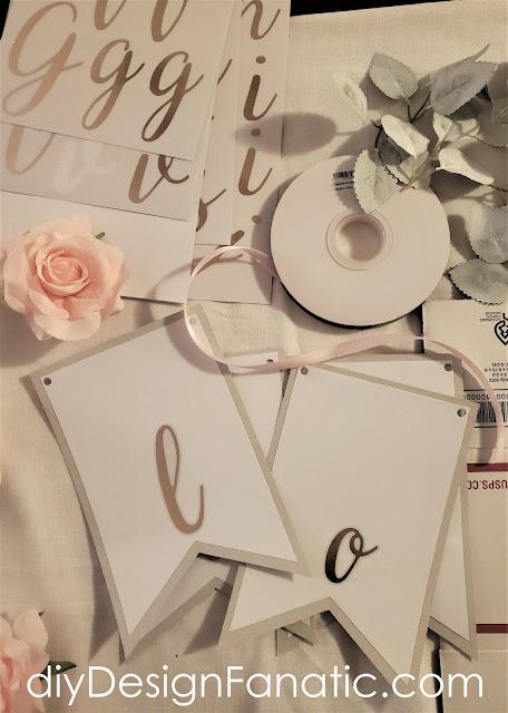 Valentine's Day, Valentine's Day Banner, Love Banner, Cottage style, farmhouse style, pink Valentine's Day