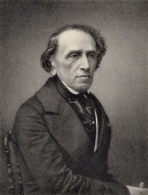Giacomo Meyerbeer, engraving from a photograph by Pierre Petit (1865)