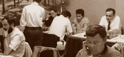 Sala de juego del XII Torneo Abierto de Sant Andreu-1988