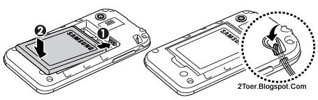 2Toer: Samsung Galaxy Y (Young) GT-S5360 Insert microSD SIM Card