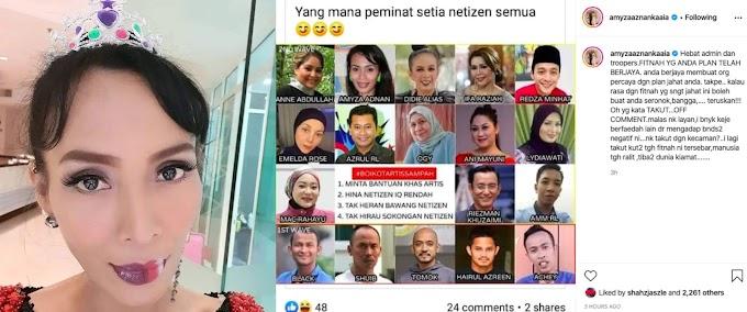 Makin diboikot netizen, Amyza Aznan anggap semua yang berlaku satu fitnah