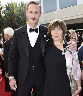 Alexander Skarsgard with his mother