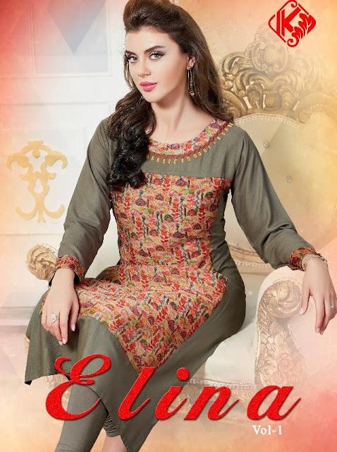 Kanika Elina Rayon Casual wear kurtis latest Design