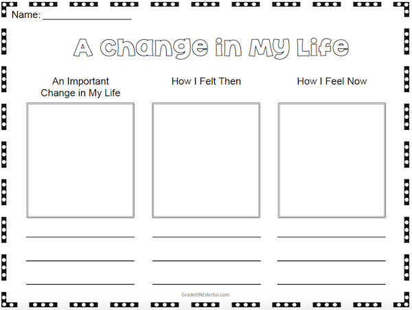 Grade 1 worksheet on Change