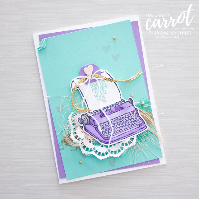 PS. You're the Best stamp set by Stampin' Up! - Highland Heather and Coastal Cabana - what a combo! - By Susan Wong