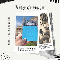 "10 de NOVEMBRE: ""Vots de poble"" a RODA DE BERÀ"