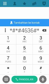 gunakan kode ini untuk membuka menu informasi telphone