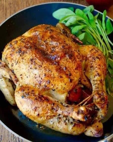 الدجاج المحشى بالبرغل