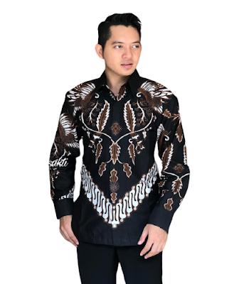 Kemeja Batik Pria Solo Lengan Panjang