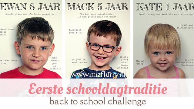 Leuke traditie voor op de eerste schooldag van een nieuw schooljaar: maak een goede foto van je kind en neem ieder jaar hetzelfde interview af. Gaaf om later terug te zien.