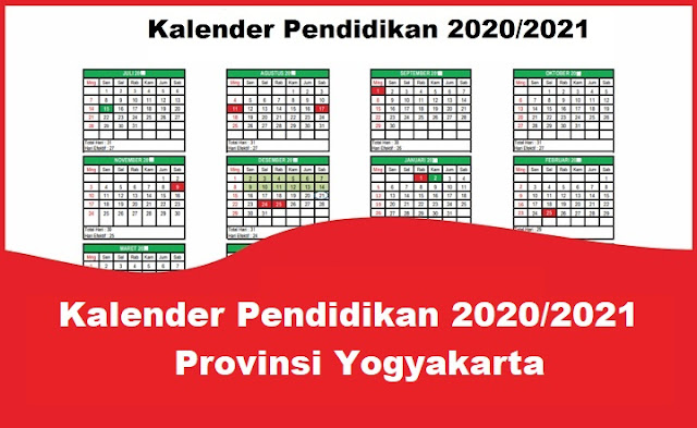 Kalender Pendidikan 2020/2021 Provinsi Yogyakarta