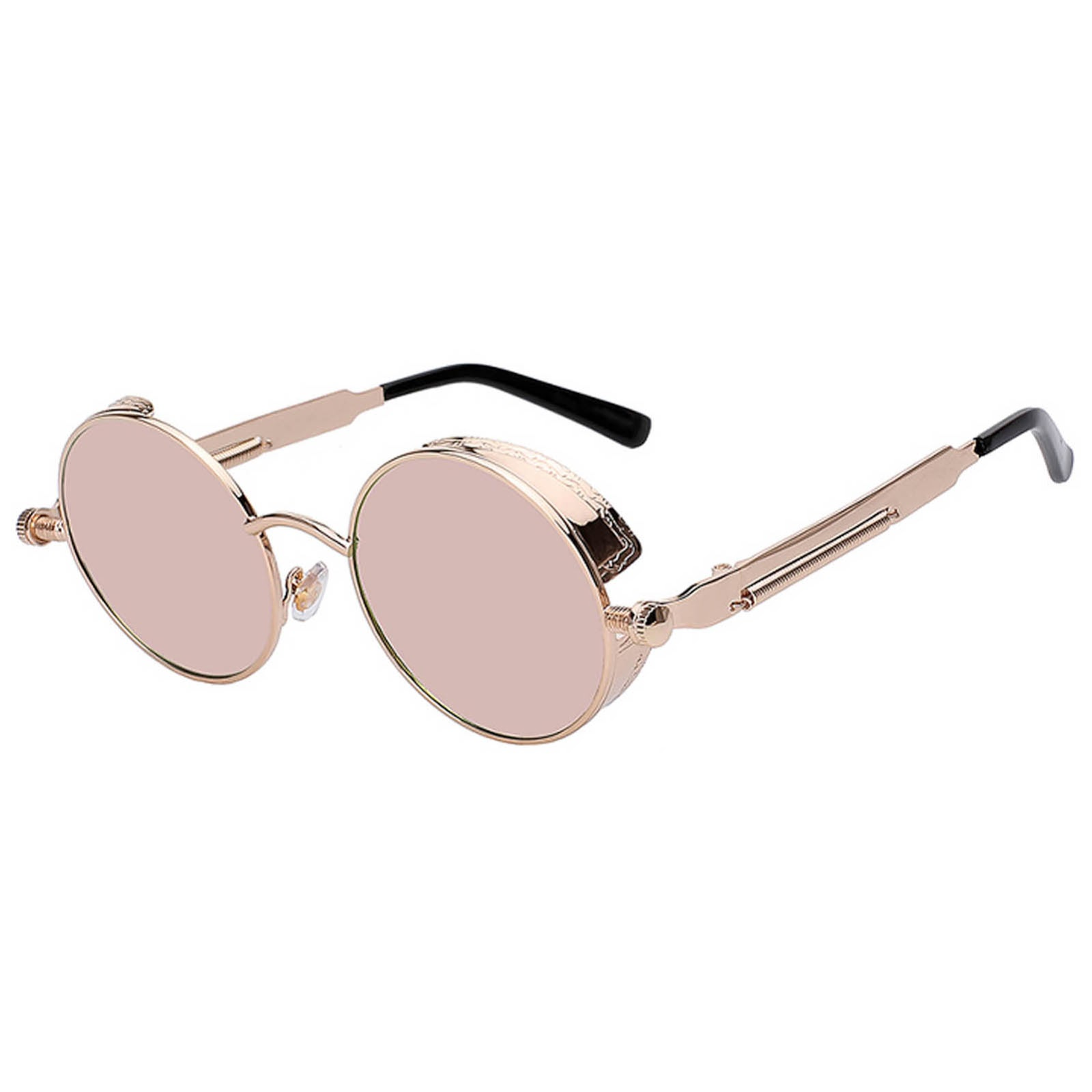 7684e6d173e http   www.online-welcome.com product owl-steampunk-gothic-eyewear- sunglasses-womens-mens-metal-round-circle-gold-frame-pink-mirror-lens-one- pair