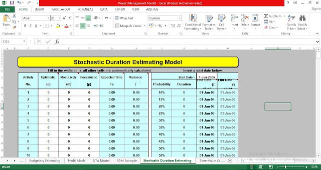 Stochastic Duration Estimating Model