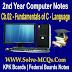 Fundamentals of C - Language Notes