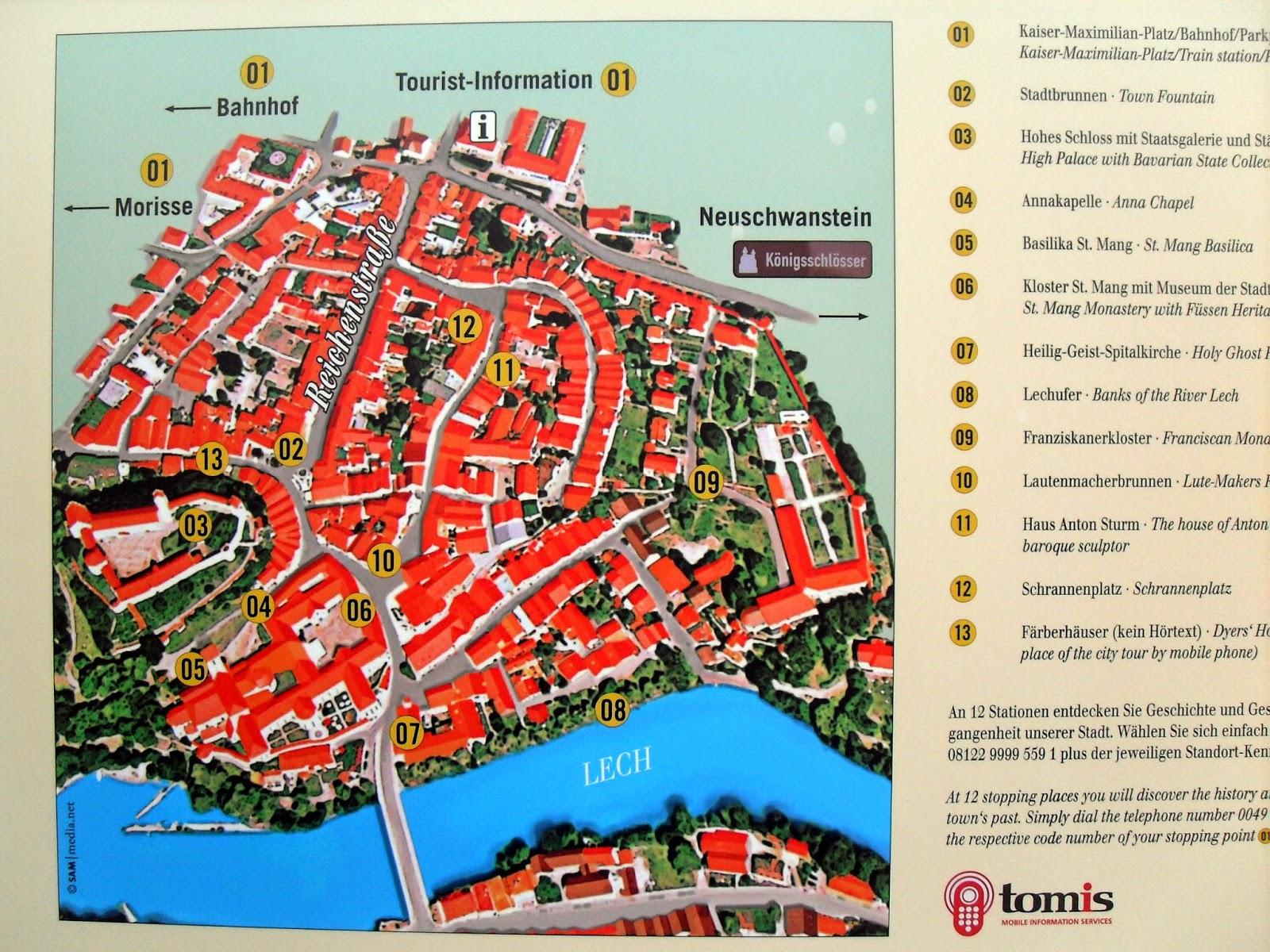 mapa de Füssen