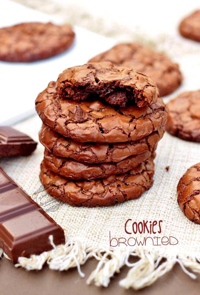 recette cookies brownies