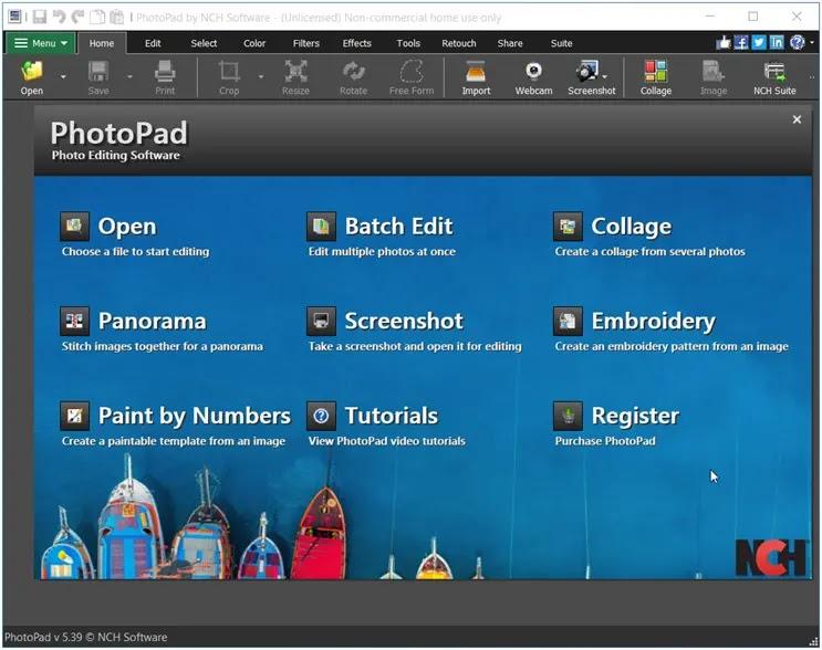 PhotoPad Photo Editing Software :  Επεξεργασία γραφικών με επαγγελματικές προδιαγραφές