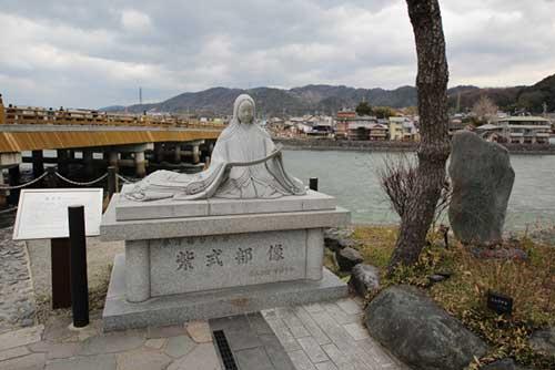 Murasaki Shikibu statue in Uji.