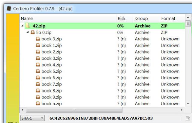 File Zip Bomb yang dapat terekstrak hingga 4500 Tera Byte