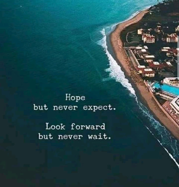 LOOK FORWARD BUT NEVER WAIT