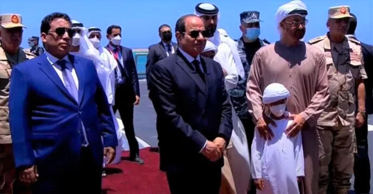 ولي عهد أبوظبي يشهد تدشين قاعد 3 يوليو مصر Egypt العسكرية البحرية بجرجوب