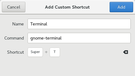 Membuat Shortcut Keyboard Terminal di CentOS 7