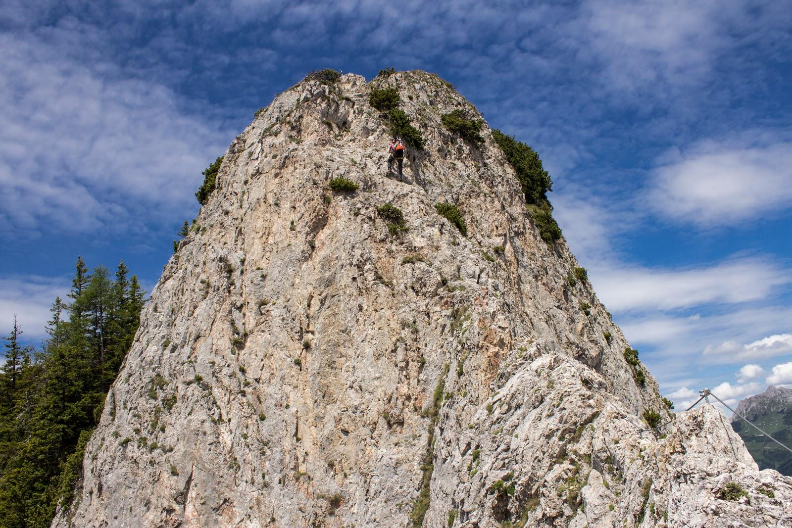 Zweitätige Rundwanderung von der Hirnalm über den Grete Klinger Steig zum Reichenstein und über Krumpenhals und Krumpensee wieder zurück zur Hirnalm - am Klettersteig