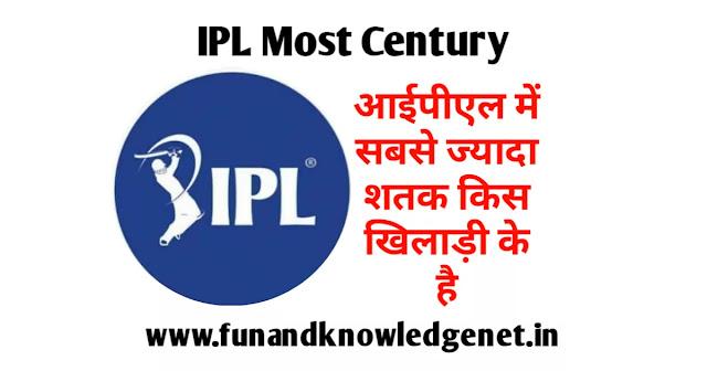 IPL mein Sabse Jyada Satak Lagane Wala Khilari - आईपीएल में सबसे ज्यादा शतक मारने वाला खिलाड़ी लिस्ट