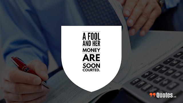 wise saying about money