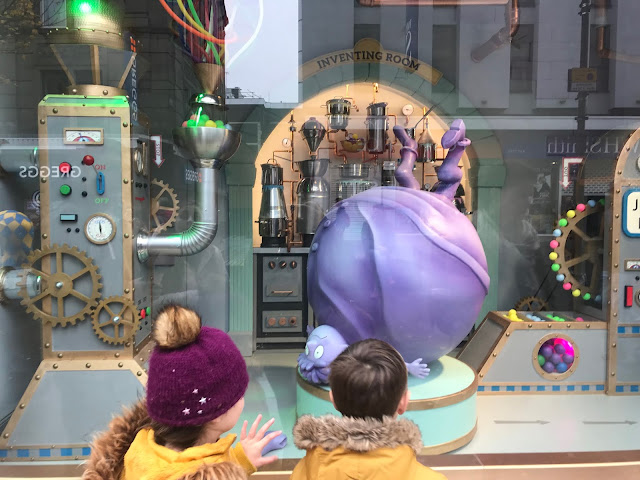 charlie and the chocolate factory theme Fenwicks window newcastle