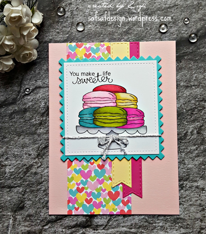 Macaroon Card featuring Love and Chocolate by Newton's Nook Designs, #newtonsnook