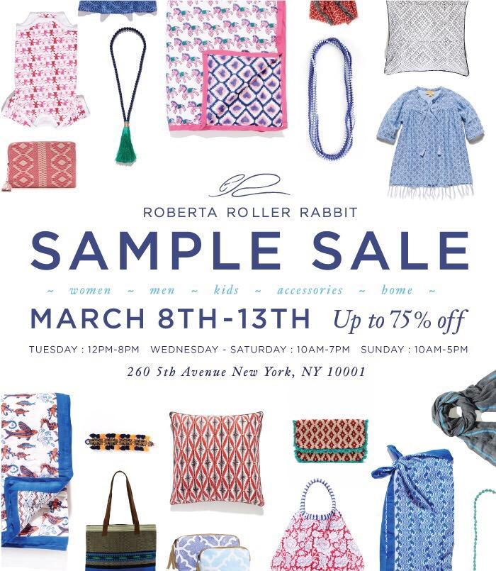 Roberta Roller Rabbit Sample Sale Starts Tuesday | Practically Haute