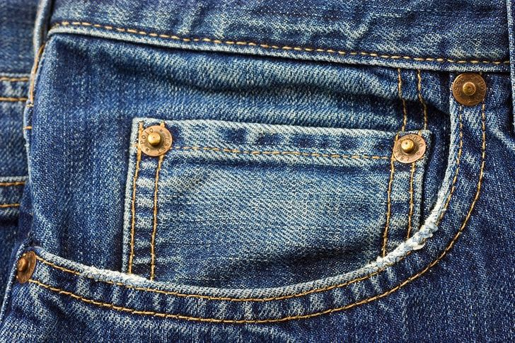 Small pocket on jeans