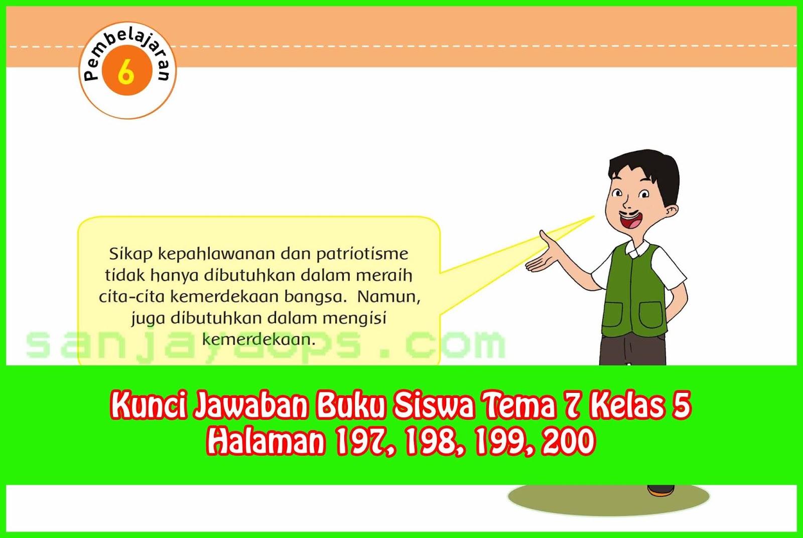Kunci Jawaban Tematik Kelas 5 Tema 9 Hal 196 - Peranti Guru