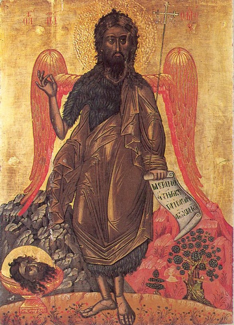 Icon of John the Baptist Angel of the Desert