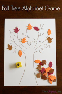http://mominspiredlife.com/fall-tree-roll-and-cover-alphabet-game/