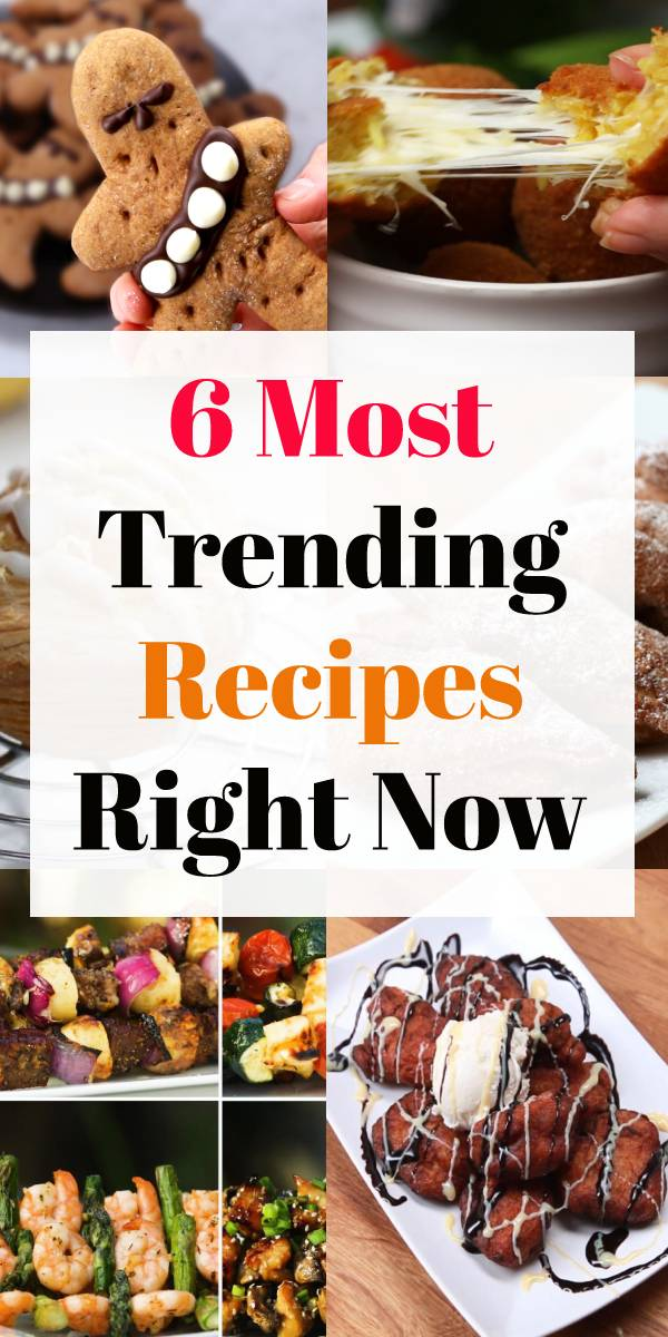 6 Most Trending Recipes Right Now - Count down through the top six recipes our fans are cooking the most today. #popularrecipes #trending #trendingrecipes #bestrecipe #recipeoftheday #summerrecipe #foodrecipe #bananafritters #friedbanana #teriyakichicken #cinnamonroll #cookies #chicken #currychicken #muffins #dinnerrecipe #bestdinnerrecipe #easydinnerrecipe