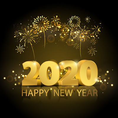 3D New year 2020 HD wallpapers for mobile phone