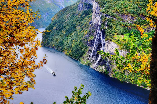 Fiorde Geirangerfjord - Noruega