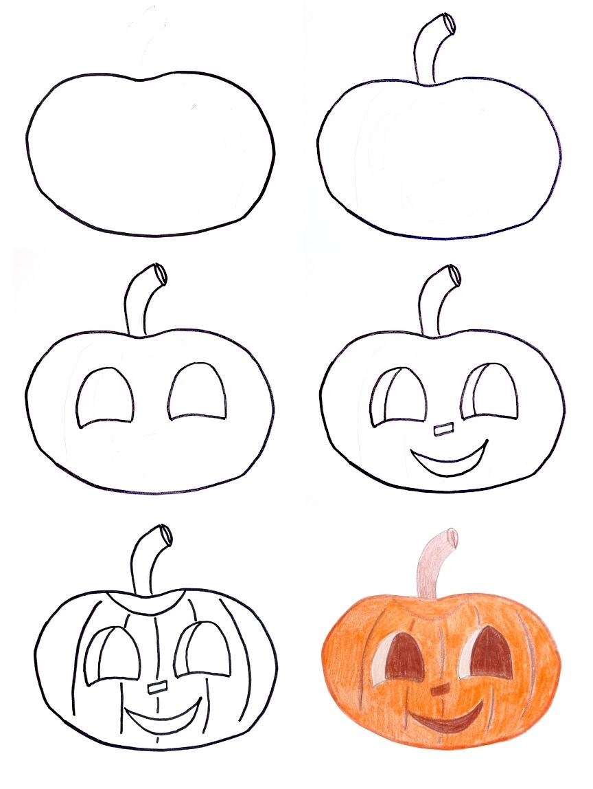 It is an image of Gargantuan Easy Pumpkin Drawing