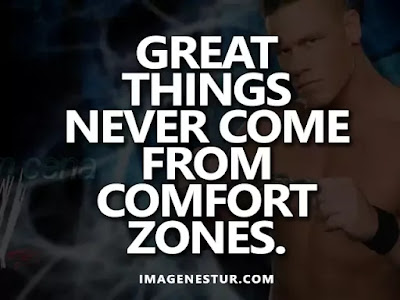 Motivational Quotes Great things never come from comfort zones.