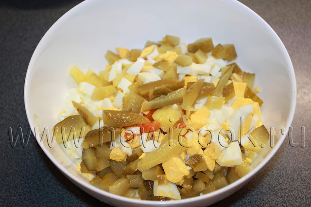 рецепт салата с печенью трески с пошаговыми фото