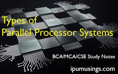 BCA/MCA - Types of Parallel Processor Systems (Computer Architecture) BCA-Semester-3 (#ggsipu)(#bcaNotes)(#mcaNotes)(#ipumusings)